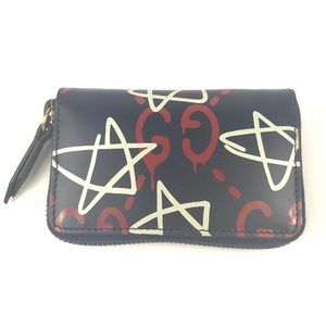 Gucci #448465 Ghost Leather Card Case Wallet